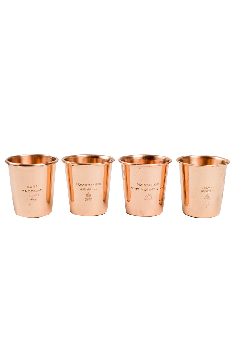 UNITED BY BLUE COPPER SHOT GLASS SET