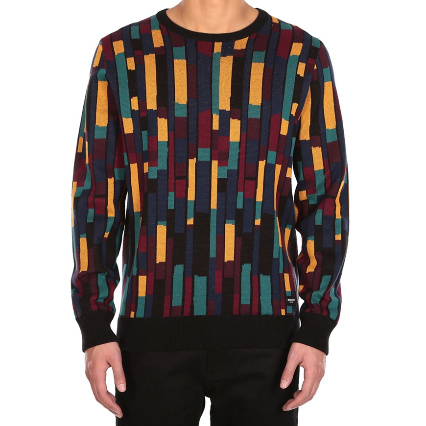 IRIEDAILY PATCHEO KNIT [NAVY RED]